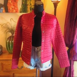 Red GAP Quilted Snap Jacket/Coat Size M